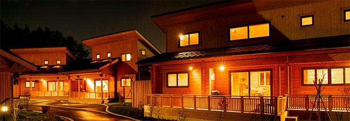 一戸建て国産杉ログハウス